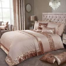 elle rose gold luxury embellished duvet