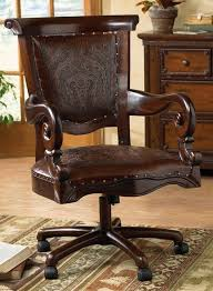 plan rustic office furniture. Rustic Desk Chair Unique Tooled Leather Western Inside Office Prepare 10 Plan Furniture