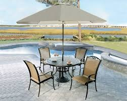 heritage 48 round w sling chairs