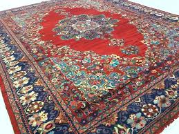 x red blue oriental rug and persian style rugs 4 x 6 oriental rug w red and blue persian fringe p