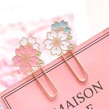 Flower Paper Clips Sakura Cherry Blossom Paper Clip Random