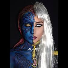 who remembers this makeup look i did a while back mystique storm
