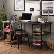 Wood office desk furniture Amish Carbon Loft Renate Reclaimed Wood And Metal Office Desk Yliving Shop Carbon Loft Renate Reclaimed Wood And Metal Office Desk Free