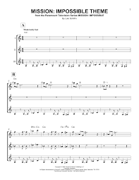 Lights Journey Tab Mission Impossible Theme By Lalo Schifrin Guitar Ensemble