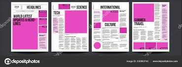 Newspaper Article Design Newspaper Vector With Text Article Column Design