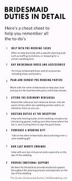 best ideas about thoughtful wedding gifts bridesmaid duties in detail here s a cheat sheet of your to dos click