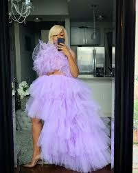 Lavender orchid skirt set – Oyemwen | Classy evening gowns, Skirt set,  Tulle skirts outfit