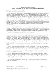 Medical School Letter Of Recommendation Templates At