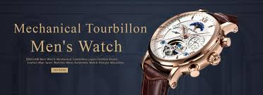 <b>BINSSAW Men</b> Watch Mechanical Tourbillon Luxury Fashion Brand ...