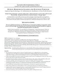 Hr Resume Templates Simple Human Resource Resume Samples Human Resources Resume Examples
