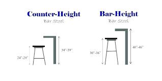 Bar Stool Size Chart Bar Stool Size Chart Clairedecorating Co