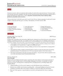 music industry resume