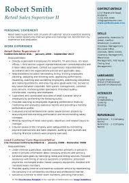 Sample Resume For Retail Sales Retail Sales Supervisor Resume Samples Qwikresume