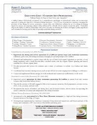 executive chef resumefree resume templates