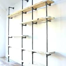 steel pipe shelves metal industrial diy