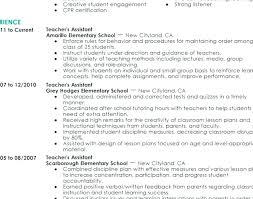 Preschool Teacher Assistant Resume Resume Of A Preschool Teacher Resume For Teacher Assistant Resume 23