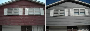 paint aluminum siding before after