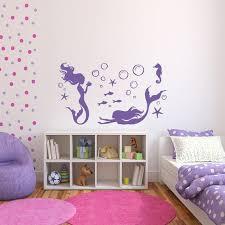 mermaid wall decal girls room decor