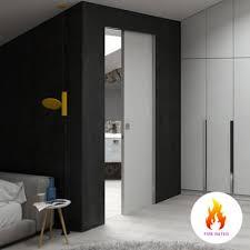 single pocket doors. scrigno single fire rated pocket door cavity sliding system doors