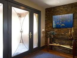 Small Picture foyer wall decorating ideas Stone Wall Foyer for Contemporary
