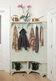 Boot Bench With Coat Rack How To Stay Organized When You Don't Have A Mudroom 56