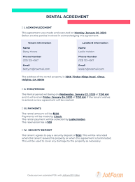 Rental and lease agreement templates. Short Term Rental Agreement Pdf Templates Jotform