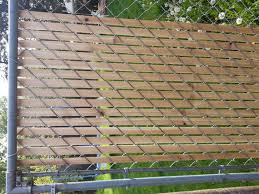 Cedar fence slats for chain link fence by BridgeCityFurniture