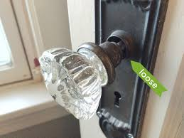 vintage glass doorknobs rather square