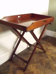 butlers tray stand antique mahogany