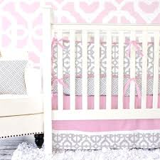 cute incredible gray pink damask nursery decor mod lattice crib bedding set in vintage pink and