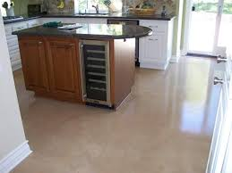 Interior Stained and Polished Concrete in Kitchen Floor