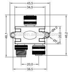 m12 m8 4pin 5pin 8pin 12 pin male to female splitter buy male to m12 m8 4pin 5pin 8pin 12 pin male to female splitter