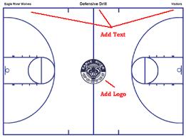 Basketball Court Diagrams And Templates Free Printable
