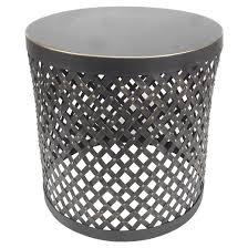 accent table round cutout metalblack threshold target