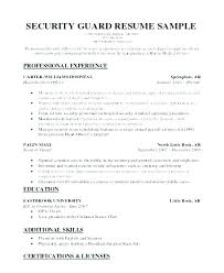Security Guard Resume Entry Level Security Guard Resume Download