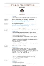 Senior Software Developer Resume Samples Visualcv Resume Samples