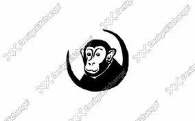 猿 クリップアート年賀状戌年の年賀状イラストデザイン素材