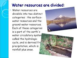water resources power point presentation water resources