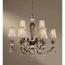 9 light chandelier portfolio wheat