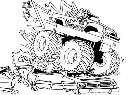 monster jam coloring pages. Delighful Monster Monster Truck Coloring Pages Color Sheets Best  For My Boy Images On Grave Digger Printable Trucks  With Jam N