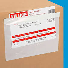 "Top Loading Packing List Envelopes - Clear, 7 1/2 X 5 1/2"" S-750 - Uline"