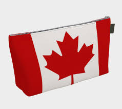 flag of canada red and white red maple leaf makeup bag preview 2