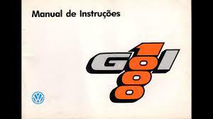 De comando com unidade indic. Manual Gol 1000 94 Youtube