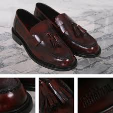 ikon originals perforated toe tassel loafers mod shoe oxblood adaptor clothing