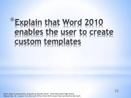 Ppt Microsoft Word 2010 Powerpoint Presentation Id 716179