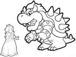 Princess Peach Coloring Pages Pdf Paper Mario Kart Page Printable