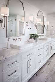 small bathroom lighting ideas. master bathrooms with shiplap walls love the marble counters double vessel bowl sinks and small bathroom lighting ideas