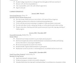 Child Care Resume Sample No Experience