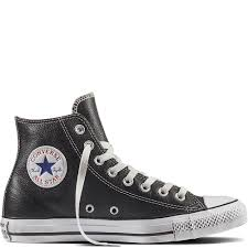 converse chuck taylor all star leather high tops mens black white black shoes 328wsnqc