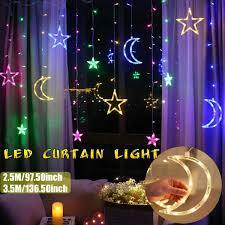 2.5/3.5m ĐÈN LED Dây Đèn Pentagram Ngôi Sao Màn Đèn Cổ Tích Đám Cưới Sinh  Nhật Giáng Sinh Chiếu Sáng Trong Nhà Đèn Trang Trí 220V Dải Đèn LED